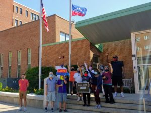Juneteenth Flag Raising Celebration in Malden, MA. June 19, 2020.